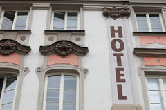 Front of hotel Stock Photos