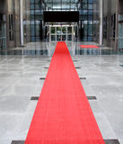 Front of the hotel on the red carpet Royalty Free Stock Images