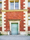 Front view of the entrance door Royalty Free Stock Photos