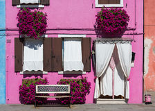 Front of the house on the island of Burano Royalty Free Stock Photo