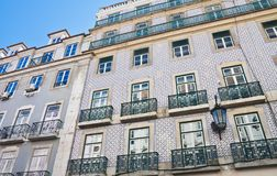 Front of the house,  Lisbon, Portugal Stock Photography