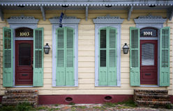 Front of house in New Orleans, Louisiana stock images