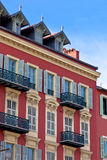 Front of House in Nice, France Royalty Free Stock Photos