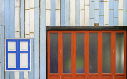 Front of a house painted inpatterns and colors Royalty Free Stock Image