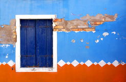 Front of a house painted in traditional patterns Stock Photos