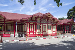 Front Hua Hin station. The front of Hua Hin railway station in Prchuap Khiri Khan province, Thailand royalty free stock image