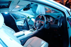 Front interior of Mazda CX-9 at its launch Stock Photos