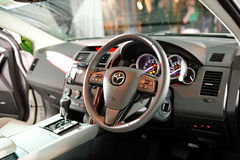 Front interior of Mazda CX-9 at its launch Royalty Free Stock Image