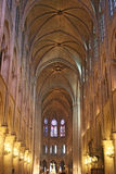 Front interior of Notre Dame Cathedral Stock Images