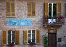 Front of Italian house. Royalty Free Stock Photos