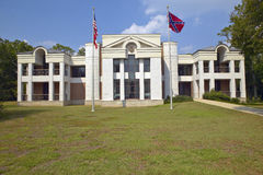 Front of the Jefferson Davis Presidential Library in Biloxi, MS Royalty Free Stock Image