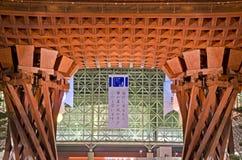 The front of Kanawaza station. Royalty Free Stock Image
