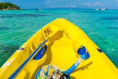 In front of kayaking in sea at Lipe island Royalty Free Stock Photo