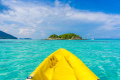 In front of kayaking in sea at Lipe island Royalty Free Stock Images