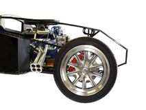 The Front of a Kit Car, Engine, Wheels and Frame Royalty Free Stock Images