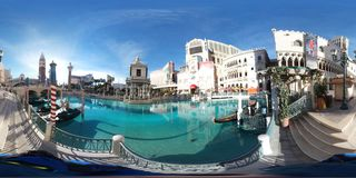 Front lake at The Venetian, Las Vegas. Amusement park is landmark, water park and cityscape. That marvel has tourism, resort and waterway and that beauty Stock Images