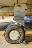 Front landing gear aircraft Stock Photography