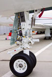 Front landing gear light aircraft Stock Photos