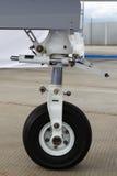 Front landing gear light aircraft Stock Image