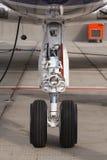 Front landing gear light aircraft Stock Photo