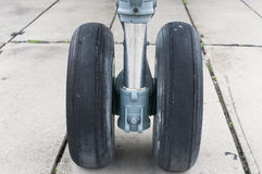Front landing gear light aircraft Royalty Free Stock Photo