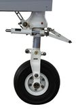 Front landing gear light aircraft Stock Photography
