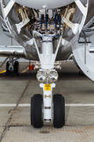 Front landing gear light aircraft Stock Image