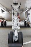 Front landing gear light aircraft Stock Photography