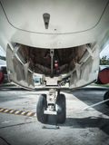 Front landing wheel aircraft Royalty Free Stock Image
