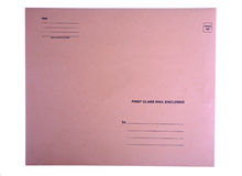 Front of large envelope Stock Photo