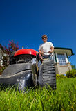 Front lawn mow Stock Image