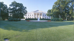 Front lawn of The White House, Washington DC stock illustration