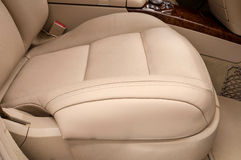 Front leather seat of car. Royalty Free Stock Image