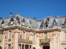 In front of and left Castle of Versaille. Frontage with blue sky in France Europe Stock Photography