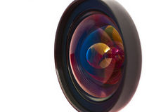 Front of the lens on a white background. Royalty Free Stock Photo