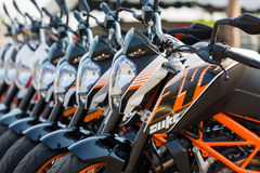 Front light of KTM Duke 390 Stock Photography
