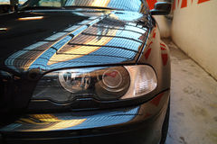 Front lights of a car Stock Images