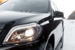 The front lights of the car Stock Photo