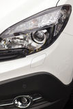 Front lights- new car detail Royalty Free Stock Images