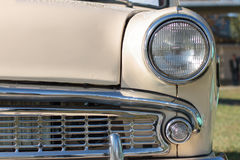 Front lights old car Stock Images