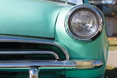 Front lights old car Stock Image
