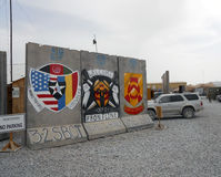 Front line border of the war in Afghanistan Stock Image