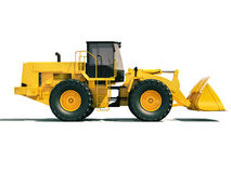 Front loader. Modern front loader on light background with shadow Royalty Free Stock Image