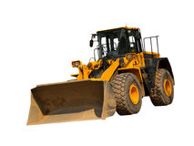 Front Loader. Front-end loader isolated on a white background Royalty Free Stock Photography