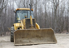 Front Loader. Front View of A Loader Bulldozer Royalty Free Stock Photo