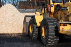 Front loader and biofuel Royalty Free Stock Photos