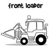 Front loader with hand draw Stock Photo