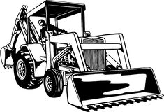 Free Front Loader Illustration Royalty Free Stock Photos - 133144168