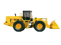 Front loader isolated Royalty Free Stock Images