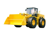 Front loader isolated Royalty Free Stock Photography